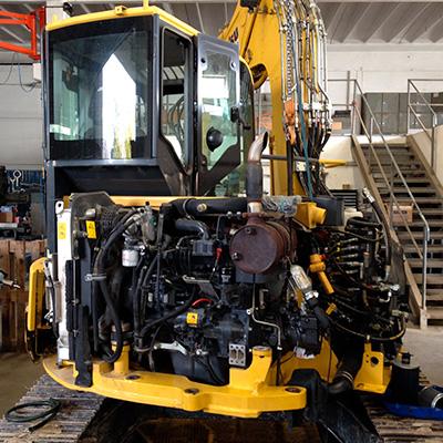assistenza tecnica escavatori